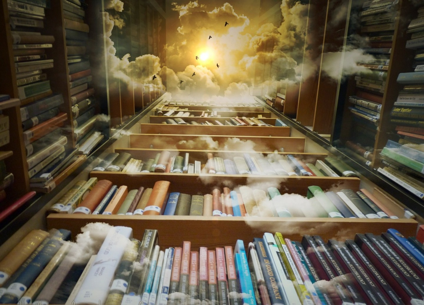 Books, Clouds—Thinking